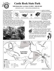 Castle Rock State Park Map