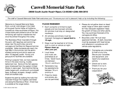 Caswell Memorial State Park Campground Map