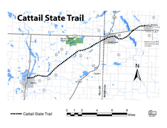Cat Tail State Trail Map