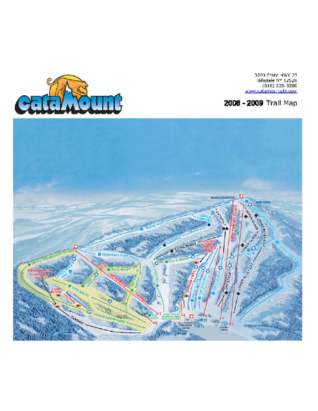Catamount Ski Area Ski Trail Map