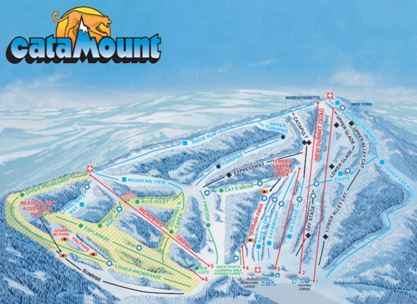 Catamount Ski Trail Map