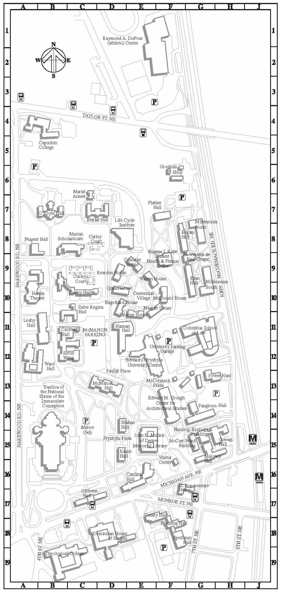 Catholic University of America Campus Map   620 Michigan Ave NE