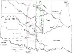 Cattle Trails Map