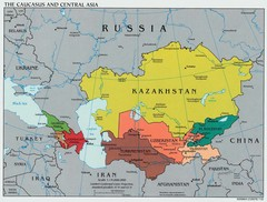Caucasus and Central Asia Politcal Map