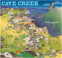 Cave Creek, Arizona Map