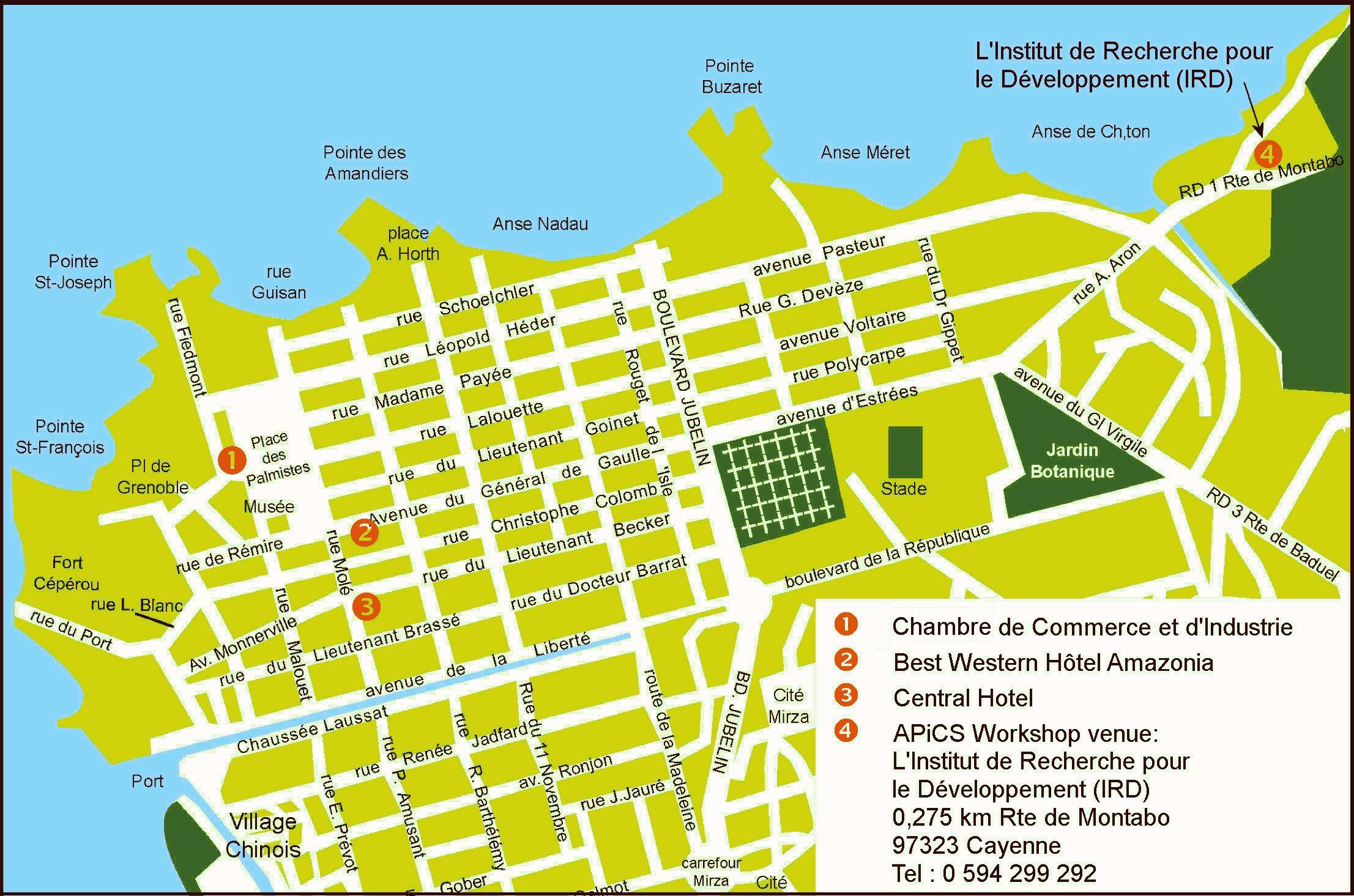 Cayenne City Map Cayenne French Guiana mappery