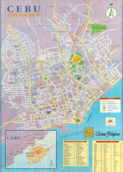 Cebu City Map Guide Philippines maps • mappery