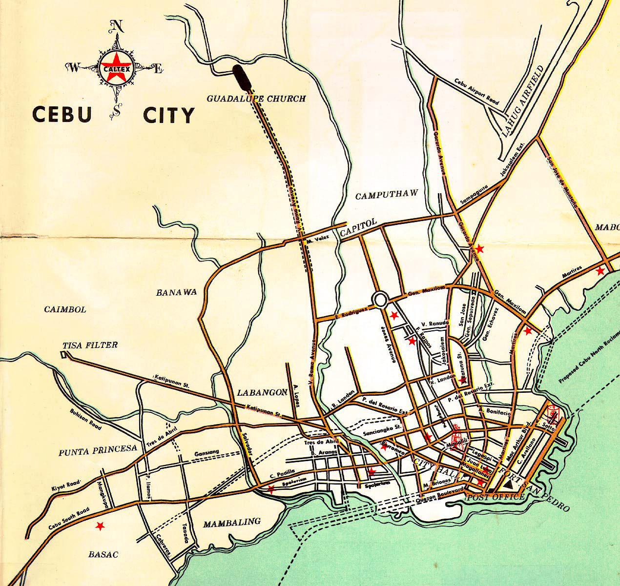 Cebu City Map Cebu mappery
