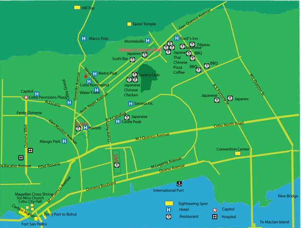 Cebu City Tourist Map