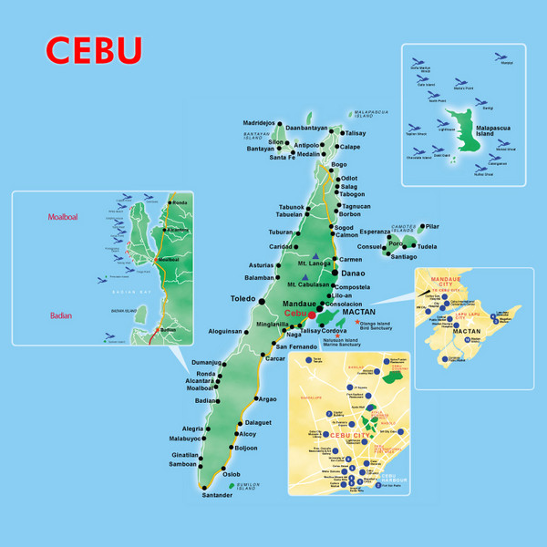 Cebu Tourist Map