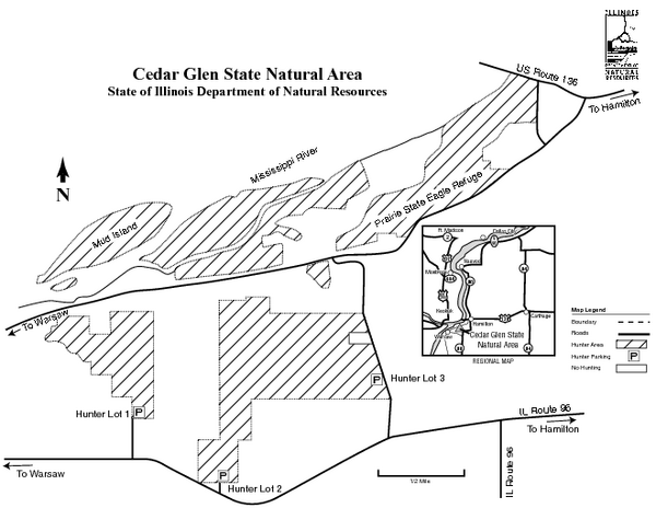 Cedar Glen State Park, Illinois Site Map