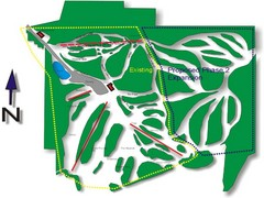 Cedar Highlands Ski Trail Map