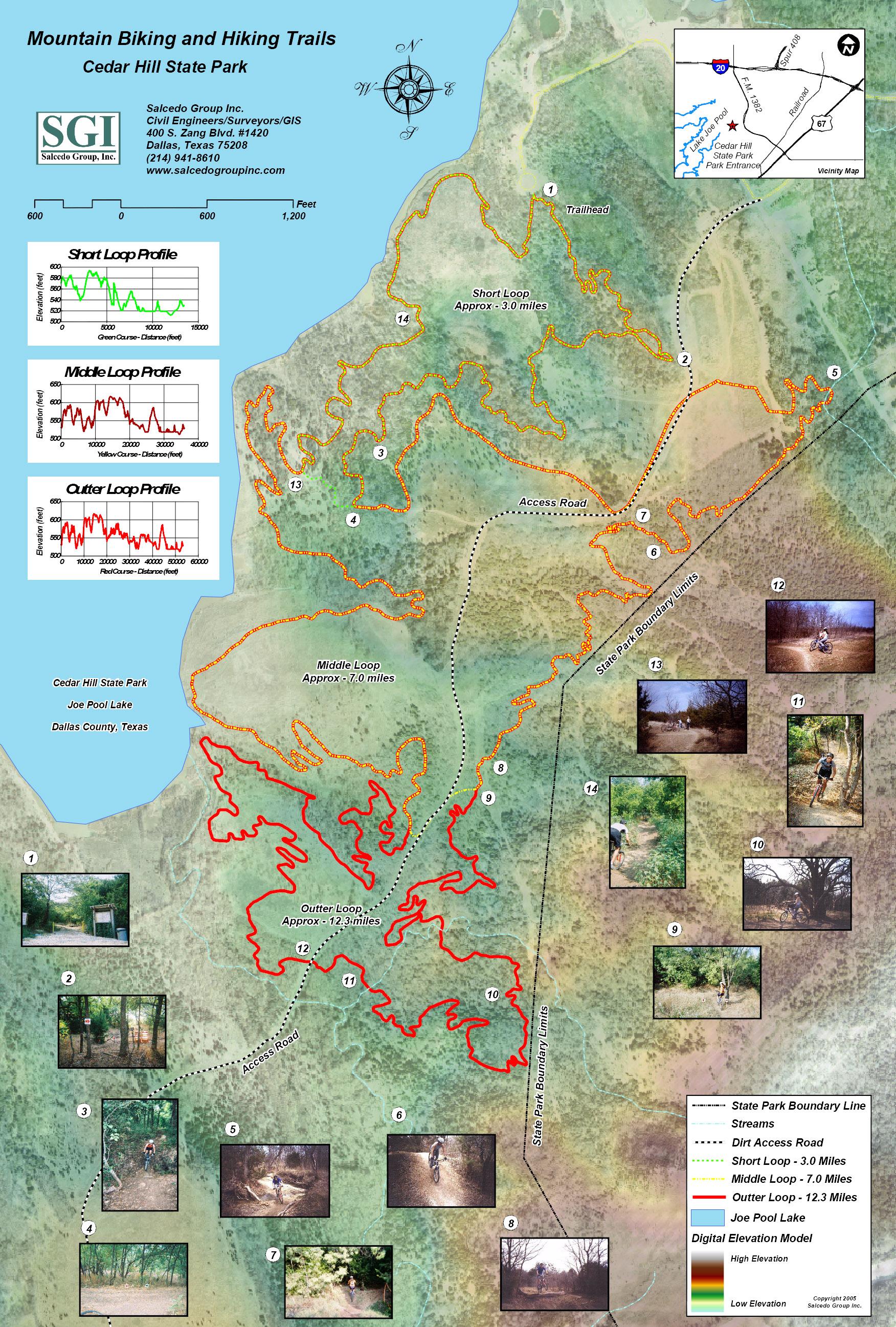 Cedar Hill State Park Mountain Biking And Hiking Map