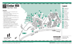 Cedar Hill, Texas State Park Northside Facility Map