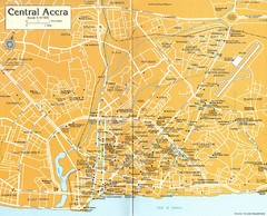 Central Accra Tourist Map