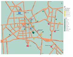 Central Addis Ababa Tourist Map