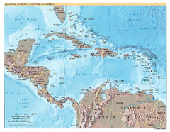 Central America and Caribbean Map