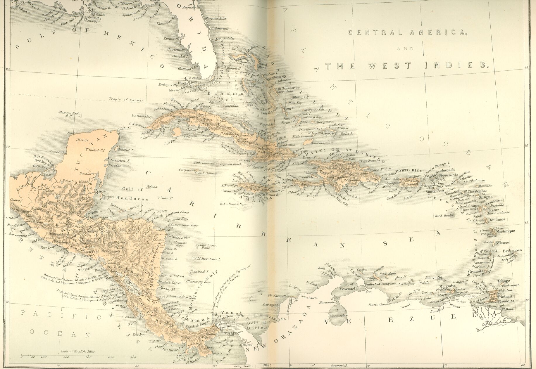 West Indies In West Indies Central America West - West indies central america 1763