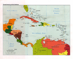 Central American and the Caribbean Political Map