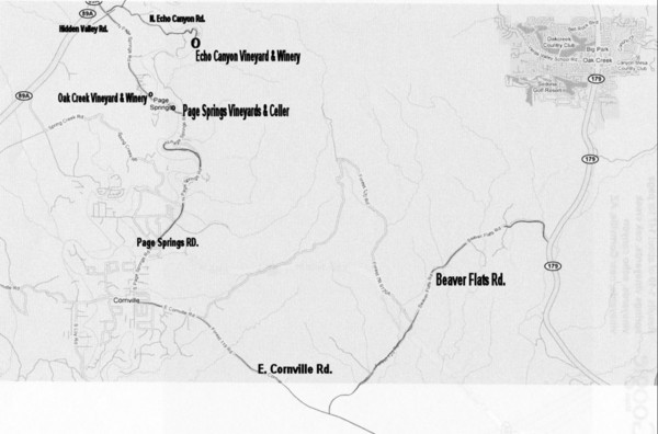 Central Arizona Wineries Map