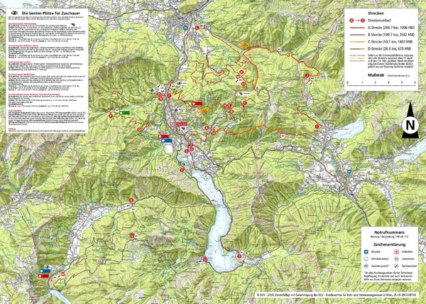 austria map hiking