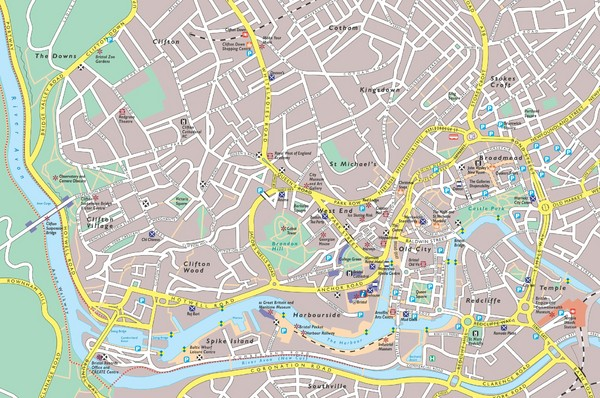 Central Bristol Tourist Map