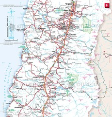 Central Chile Tourist Map