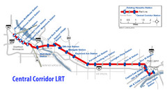 Central Corridor Light Rail in Twin Cities Region...