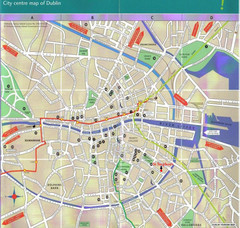 Central Dublin, Ireland City Map
