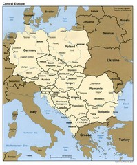 Central Europe Country Map