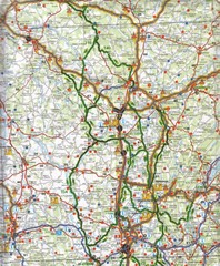 Central France Tourist Map