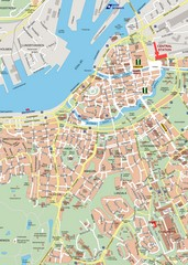 Central Gothenburg Street Map