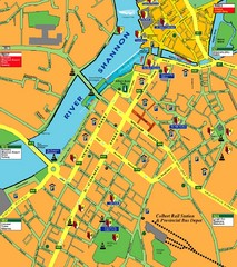 Central Limerick, Ireland Tourist Map