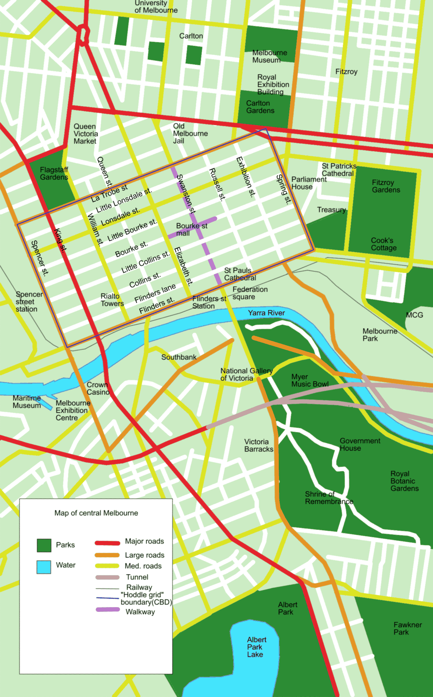 Central Melbourne Australia Tourist Map Melbourne Australia – Melbourne Map For Tourist