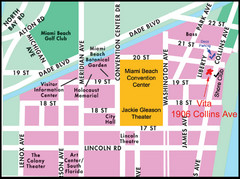 Central Miami, FL Tourist Map
