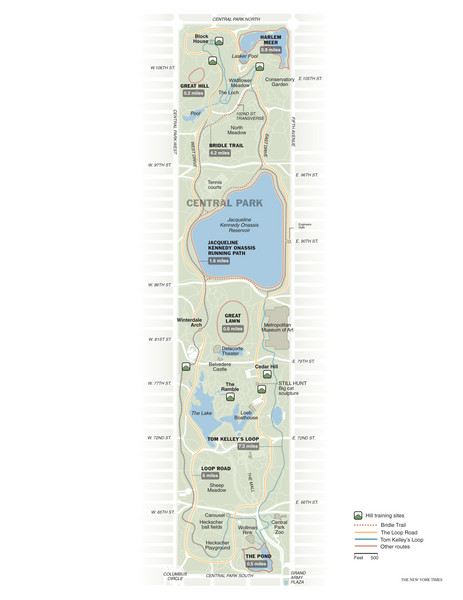 Central Park Fitness Map Central Park NY US mappery