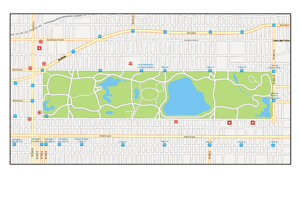 Central Park, New York Map