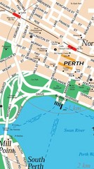 Central Perth, Australia City Map