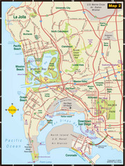 Central San Diego Tourist Map