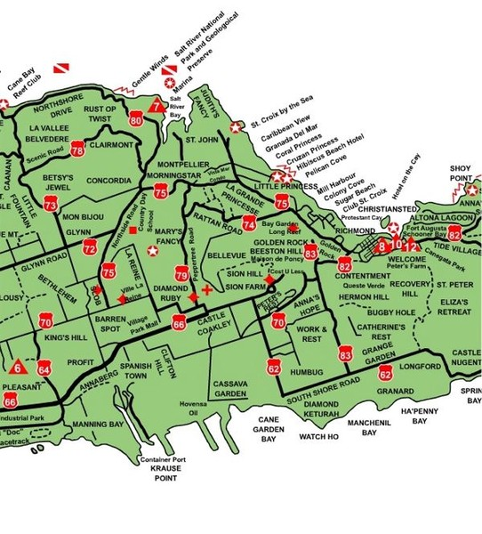 central st croix map