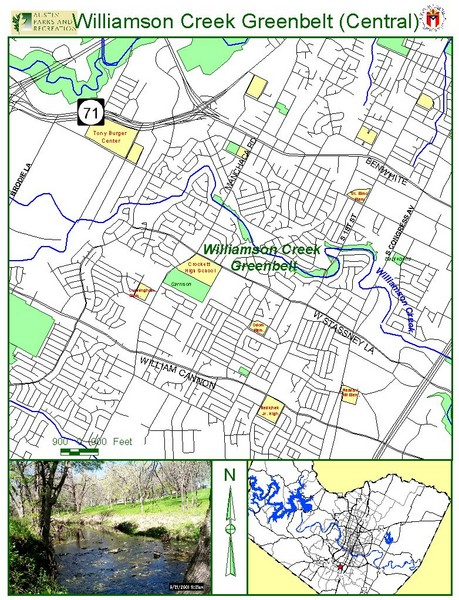 Central Williams Creek Greenbelt Map