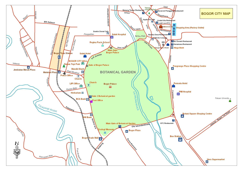 Central of Bogor City Map - Bogor Palace • mappery