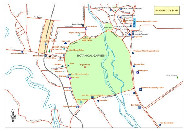 Central of Bogor City Map