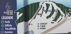 Centre de Plein Air Levis Ski Trail Map