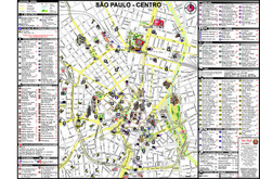 Centre of Sao Paulo Map