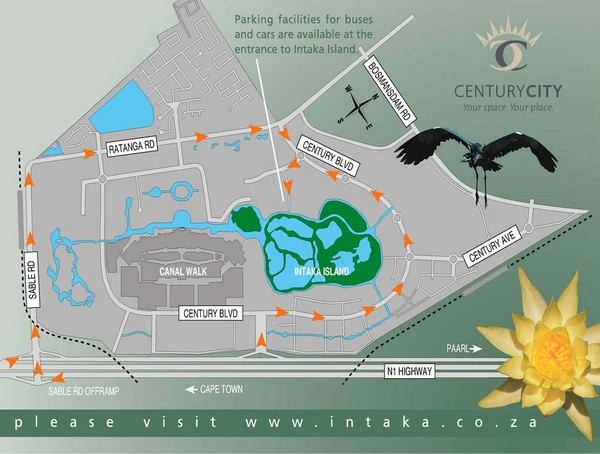 Century City Tourist Map