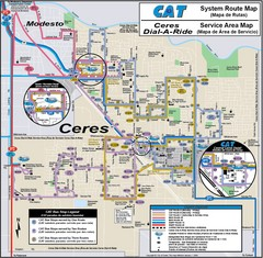 Ceres, CA Transportation Map