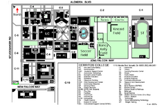 Cerritos College Campus Map