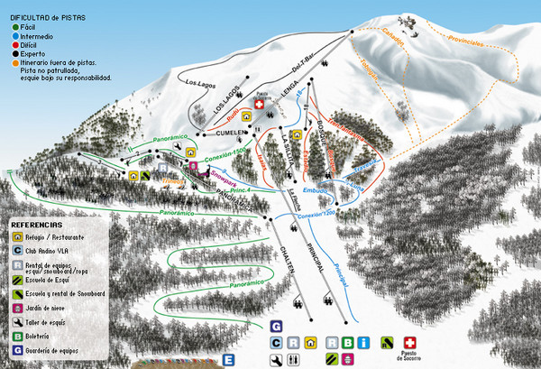Cerro Bayo Ski Trail Map