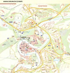 Cesky Krumlov Czech Republic Tourist Map